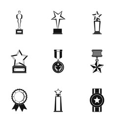Lot icons set simple style vector