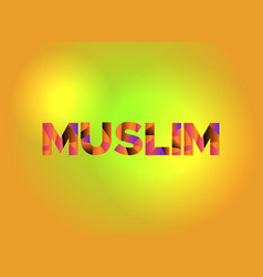 Muslim theme word art vector