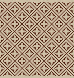 Seamless - beige brown tile pattern vector