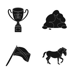 training travel and or web icon in black style vector image vector image