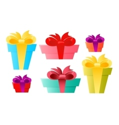 Set gift box vector