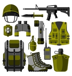 Military weapon guns symbols vector