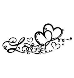 Valentines Day decoration vector image