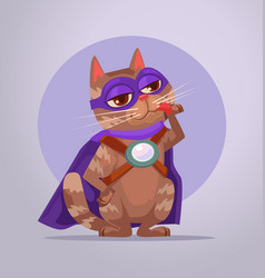 Cat superhero character vector