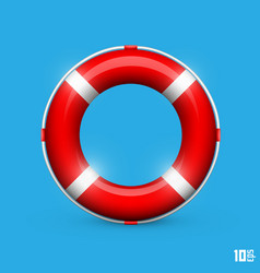 Lifebuoy on a blue background vector