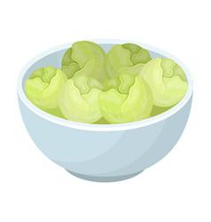 a plate of salad greensthe dark belgian wolf vector image