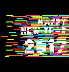 Happy new year 2017 quote typography design vector