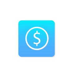 Flat money icon vector