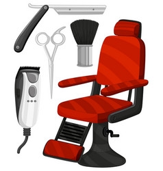 Barber chair and other equipments vector