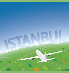 istanbul flight destination vector image