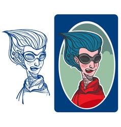 beautiful woman character vector image
