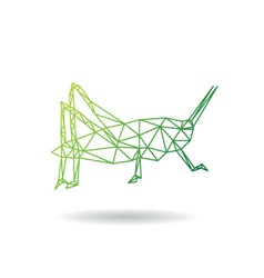 Grasshopper abstract isolated vector