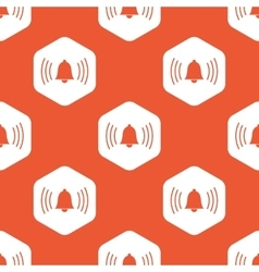 Orange hexagon alarm pattern vector