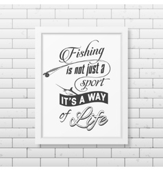 Quote typographical Background in the white frame vector image