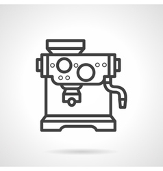 Black line design coffee machine icon vector