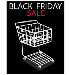 A shopping cart on black friday promotion vector