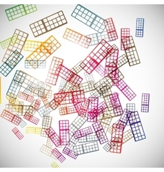 Abstract background keyboard vector