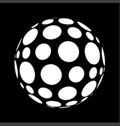 Abstract polka dots in sphere form vector