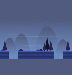 Background game with spruce scenery vector