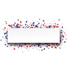 Banner with stars vector image