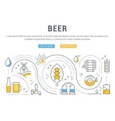 Beer Web Banner vector image vector image