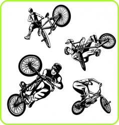 BMX bicycle vector image