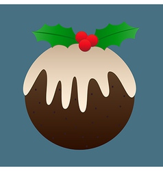 Christmas plum pudding vector