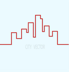 city contour on a blue background design element vector image vector image