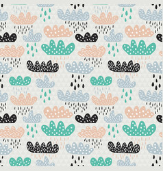 clouds pattern vector image vector image