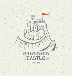 Emblem castle on a mountain vector