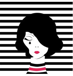 fashion girl crying vector image vector image