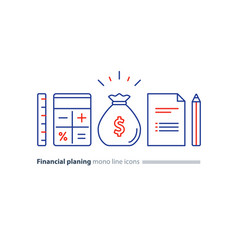 financial and pension planning money fund business vector image