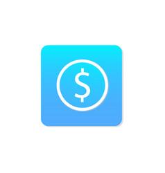 Flat money icon vector