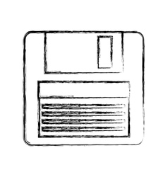 floppy disk isolated icon vector image