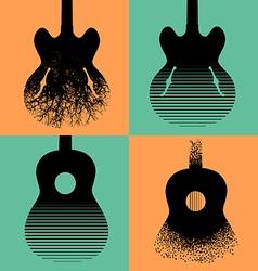 Four interesting guitar designs vector image