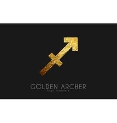 Golden archer golden zodiac sign archer zodiac vector