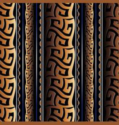Greek meanders seamless pattern grecian striped vector