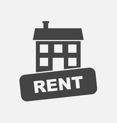 House for rent in flat style on white background vector