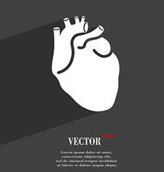 Human heart symbol Flat modern web design with vector image vector image