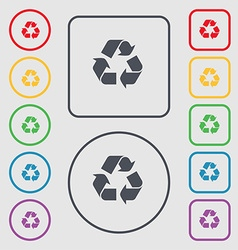 Processing icon sign symbol on the round and vector