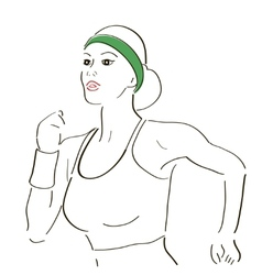 Running woman sketch vector image vector image
