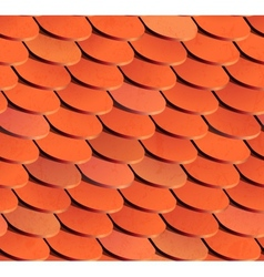 Seamless roof tiles background vector