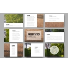 Set of 9 templates for presentation slides Park vector image vector image