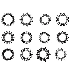 Set template in the form of a circle vector image vector image