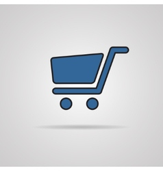 Shopping cart icons - signs for online purchases vector image
