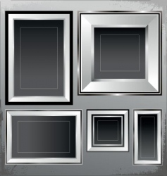Silver frames vector