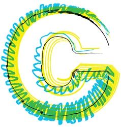 Sketch font Letter C vector image vector image