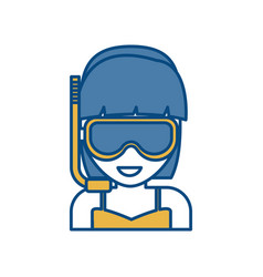 Snorkel mask design vector