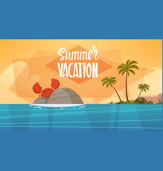 Summer vacation sea landscape beautiful beach vector