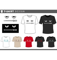 t shirt design with zipped lips vector image vector image